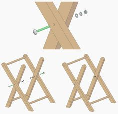 Folding Table Diy, Diy Table, Carpentry Projects, Wood Projects, Macrame Chairs, Outdoor Chairs, Bamboo, Woodworking, Crafts