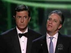 Apart from being two of my favourites on TV what Stephen Colbert and Jon Stewart is doing here is hilarious!