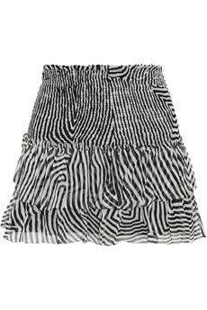 Étoile Isabel Marant Derek printed silk-chiffon mini skirt   NET-A-PORTER We bought in red