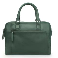 Buy online #BRUNE FOREST GREEN #LEATHER LAPTOP OFFICE #BRIEFCASE @ voganow.com for Rs.9,999/-