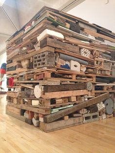 Tony Cragg's repurposed art as displayed at the Tate Modern. Found here.