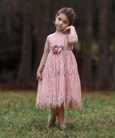 Another great find on #zulily! Pink Lace Bella Rafaela Dress - Infant, Toddler & Girls #zulilyfinds