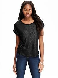 Women's Shimmer-Front Boxy Tees