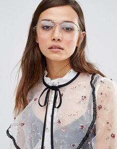Image 3 ofPieces Clear Lens Aviator Glasses