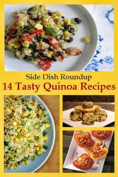 14 Quinoa Side Dish Recipes { www.thelovebugsblog.blogspot.com }
