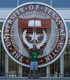 The seal of the University of Texas graces the main gate at the Darrell K. Royal Memorial Stadium, home field to the UT Longhorns