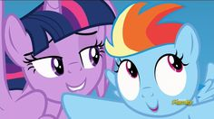 Twilight and filly rainbow dash. Awkward