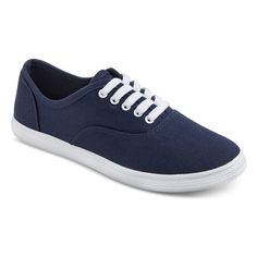 Women's Lunea Canvas Sneakers Mossimo Supply Co. - Navy (Blue) 11