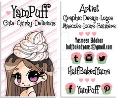YamPuff Business Card by YamPuff.deviantart.com on @DeviantArt