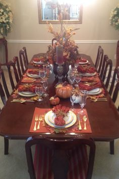 My fall dining room decorations 2014