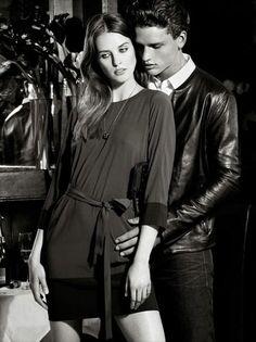 Julia Frauche & Simon Nessman - Armani Exchange Holiday 2013