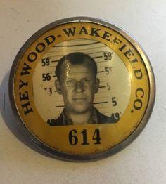 $10.50 Heywood-Wakefield Co. Employee Identification Badge Number 614 - Whitehead-Hoag
