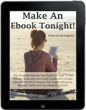 Learn how to write, publish and sell your first ebook using content you already have! http://MakeAnEbookTonight.com