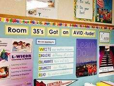 Love this AVID-related bulletin board!