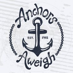 Vintage Anchor and Text Design by Mike McDonald | Toon Vectors EPS ...