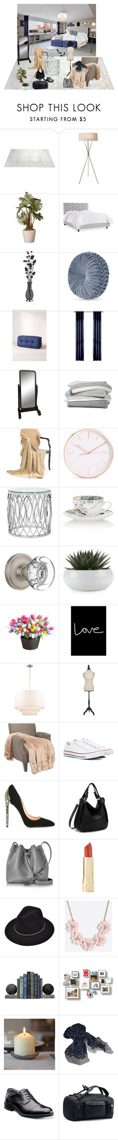 """""""A bedroom"""" by chigera ❤ liked on Polyvore featuring interior, interiors, interior design, home, home decor, interior decorating, Dimond, J. Queen New York, Urban Outfitters and Barefoot Dreams"""