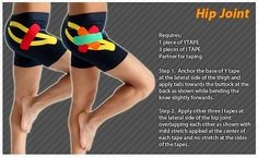 kinesiology tape for hip - Google Search