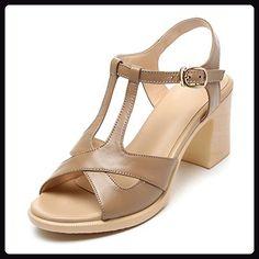 QL@YC Sandalen FüR Damen Sandalen Damen High Heel Sandaletten Damenschuhe Bequeme Sandalen , brown , 40 - Sandalen für frauen (*Partner-Link)