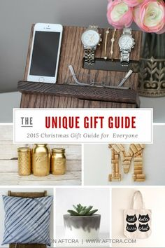 Find the perfect gift with this curated gift guide of unique Christmas 2015 gifts for anyone on your list - all handcrafted and made by artisans in America.