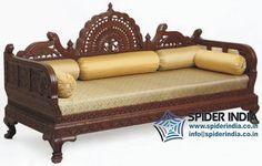 Maharaja sofa, chouch, chaise, chase lounge, sofa, wooden carved sofa, teak sofa, fine carved sofa, rajasthani sofa, jodhpur carved sofa