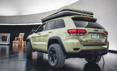 View Jeep Grand Cherokee Overlander Concept Can Get Away from It All—and Stay Away Photos from Car and Driver. Find high-resolution car images in our photo-gallery archive.