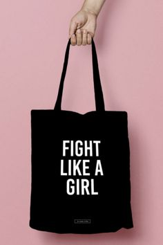 Feminist Teen Girl Gifts / Awesome Feminism Gifts for Teenagers / Birthday Gift Ideas: FIGHT LIKE A GIRL Quote Tote Bag by My Name Is Mir Etsy Teenager Birthday Gifts, Birthday Gifts For Grandma, Grandma Gifts, Gifts For Teens, Gifts For Mom, Hanukkah Gifts, Teen Girl Gifts, Daughter Of God, Girl Quotes