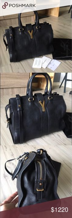 Authentic yves saint laurent mini cabas chyc yves saint laurent mini cabas chyc bag hardly used in gorgeous condition.                   * Come with strap shoulder , dust bag , authenticate cards  * No visible sings of wear. * Can be used as cross body  * Considering only reasonable offer.  * Available to pick up located in DowntownLA  Lower 🅿️🅿️ on e🅱️🅰️y  Any questions or more picture just let me know. 😊 Yves Saint Laurent Bags