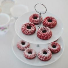Delicious mini red velvet bundt cakes - perfect with a warm cup of tea!