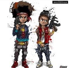 Stream Lock and Load (Remix) by Lil Stezo from desktop or your mobile device Dope Cartoons, Dope Cartoon Art, Cartoon Kunst, Boondocks Drawings, Dope Kunst, Arte Cholo, Black Cartoon Characters, Trill Art, Black Comics