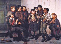 John George Brown (American genre painter, 1831-1913).  A Jolly Lot