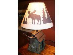 Moose Cabin Lamp