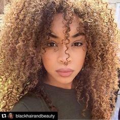 #Repost @blackhairandbeauty with @repostapp.  #blackhairandbeauty #bighairdontcare #curls #curlygirls #brownskin #melanin #beautiful #blackgirlsrock