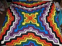 Delicadezas en crochet Gabriela: Manta de grannys muy orinal con esquemas