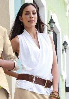 Cross Front Top - very nice belted