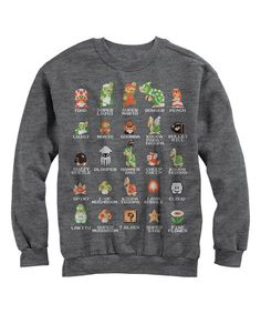 afc793d5ecf7 Another great find on  zulily! Heather Charcoal Pixel Cast Crewneck Sweater   zulilyfinds Video