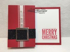 Stampin Up, Merry Everything, Santa, side fold card