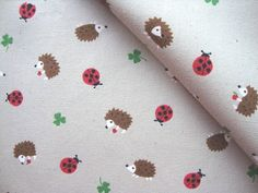 Japanese Fabric Cotton Kokka - Beetle and Hedgehog - half yard by Nanagracy on Etsy https://www.etsy.com/listing/100285723/japanese-fabric-cotton-kokka-beetle-and