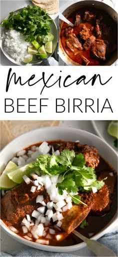 Birria is a spicy Mexican dish from the state of Jalisco. Traditionally made from goat meat or mutton, here you'll find delicious chunks of juicy lamb and beef simmering in a flavorful broth made from dried chilis and toasted spices. Learn how to make this birria recipe at home and enjoy this comforting Mexican beef stew in tacos or in a deep bowl garnished with diced onion, cilantro, and fresh limes.