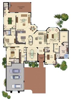 CYPRESS/2 Floor Plan 3937 sq ft
