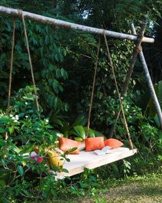 We have an ancient swing set that was left in our yard from the previous owners. I've thought a lot about what I want to do with it and then I saw this picture and my mind was filled with summer inspiration!  I guess I have reading spots on the brain today.  #inthesummertime #swing #backyardspace #yardinspiration #gardengoals #swingset #summerlivin #upcycle #readingnook #secretgarden #aplacetohide #lushlife #greenspace #backyardstyle #outdoorspace #outdoorliving #hammocklife by…