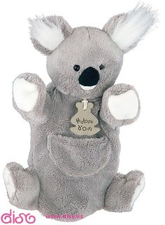 #peluchesparabebés #peluches Peluches para bebes - Marioneta koala 25cm www.disy.es