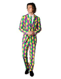 Hang de clown uit in stijl met het Mr. Harlekijn kostuum - Nu verkrijgbaar bij Vegaoo.nl