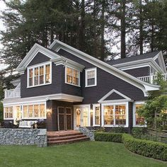 love the style and color gray house