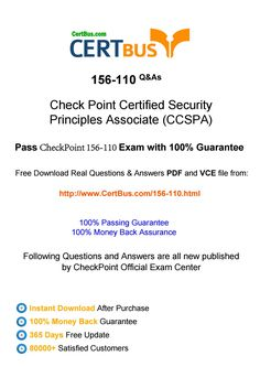 Certbus checkpoint 156-110 study materials braindumps with real exam by IT  Certification CertBus - issuu