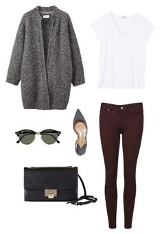 """""""Day to day city chic"""" by sierra-smith-5 on Polyvore featuring Paige Denim, Paul Andrew, Toast, Jimmy Choo and Ray-Ban"""