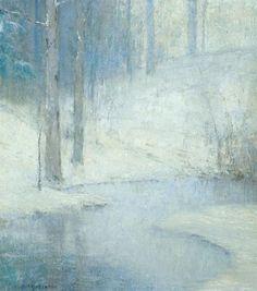 Bruce Crane (1857 - 1937) | Winter Landscape