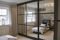 Cliveden Grange development has been fitted with high quality solid wood sliding wardrobe doors by Draks. Hippie Bedroom Decor, Grey Bedroom Decor, Room Ideas Bedroom, Bedroom Furniture, Bedroom Art, Mirrored Bifold Closet Doors, Sliding Wardrobe Doors, Sliding Doors, Mirrored Wardrobe Doors