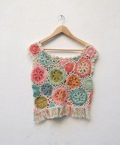 Dos versiones de remeras tejidas al crochet de Paula y Agustina Ricci. TIENDA OFICIAL http://paulayagustinaricci.mitiend...
