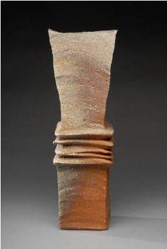 Artist: Yasuhisa Kohyama, Title: Tall Rectangular Vessel - click on image to enlarge