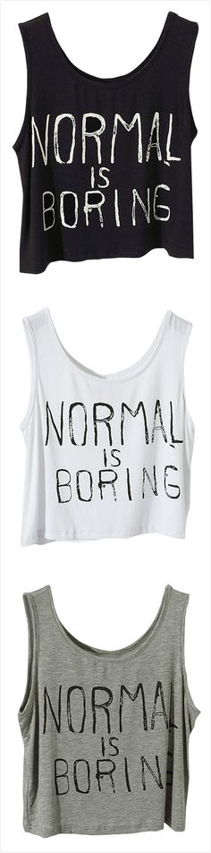 Women's Fashion Summer Letter Print Crop-Top Tank.Check more from www.oasap.com .